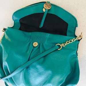 Juicy Couture teal crossbody bag
